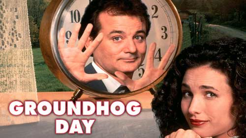 The movie Groundhog Day superbly illustrates the difficult process of recovery.